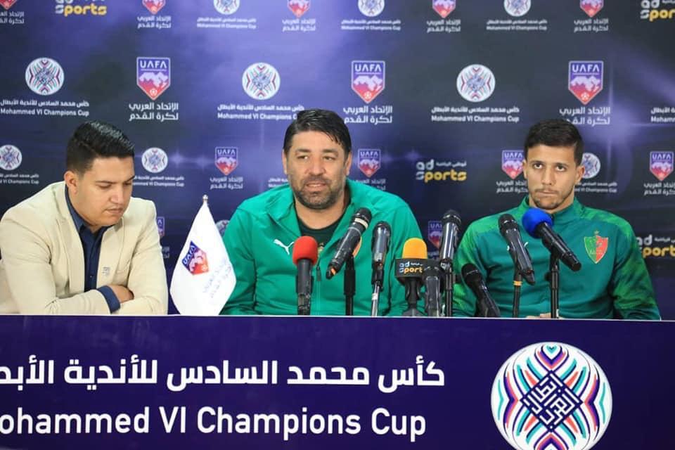 مخازني: نسعى لكتابة التاريخ أمام الرجاء في المنافسة العربية