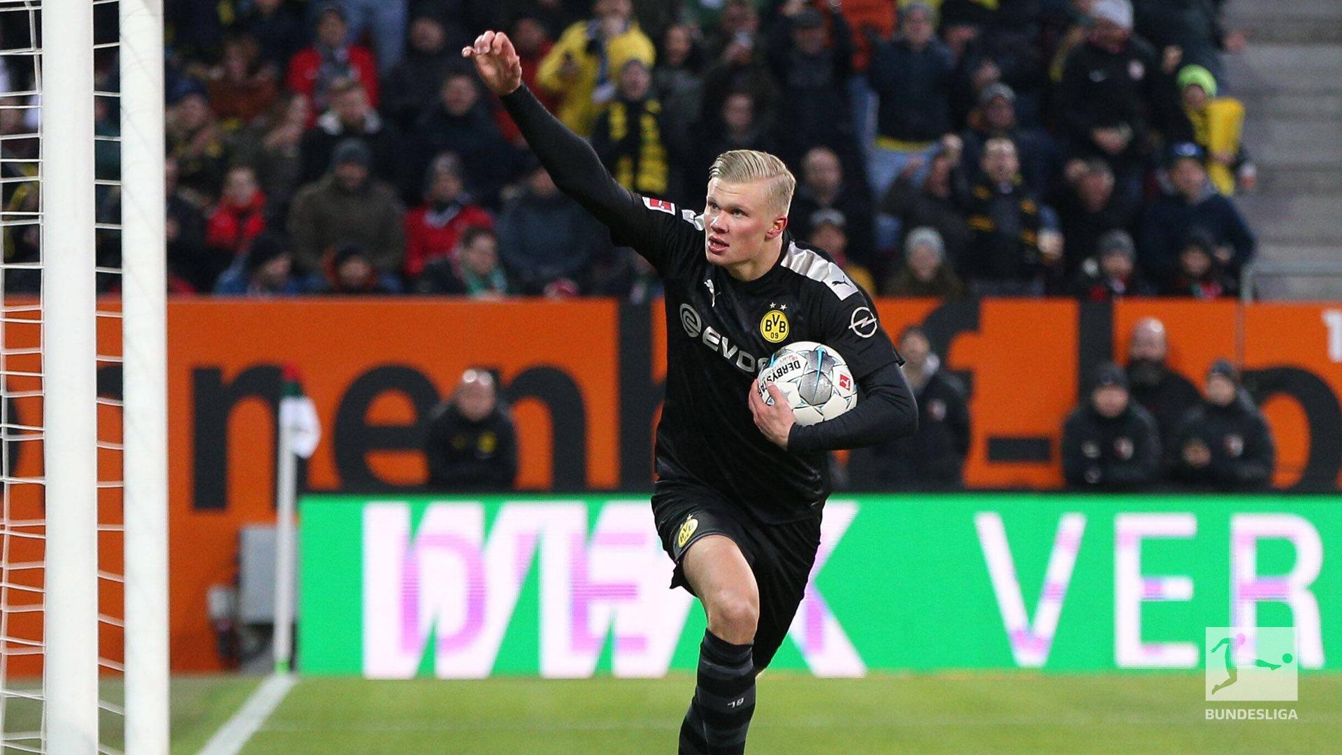 هالاند يبدأ مسيرته مع بوروسيا دورتموند بهاتريك