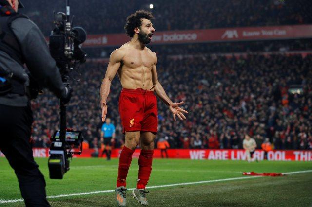 محمد صلاح يكسر رقما جديد بعد الفوز على المان يونايتد