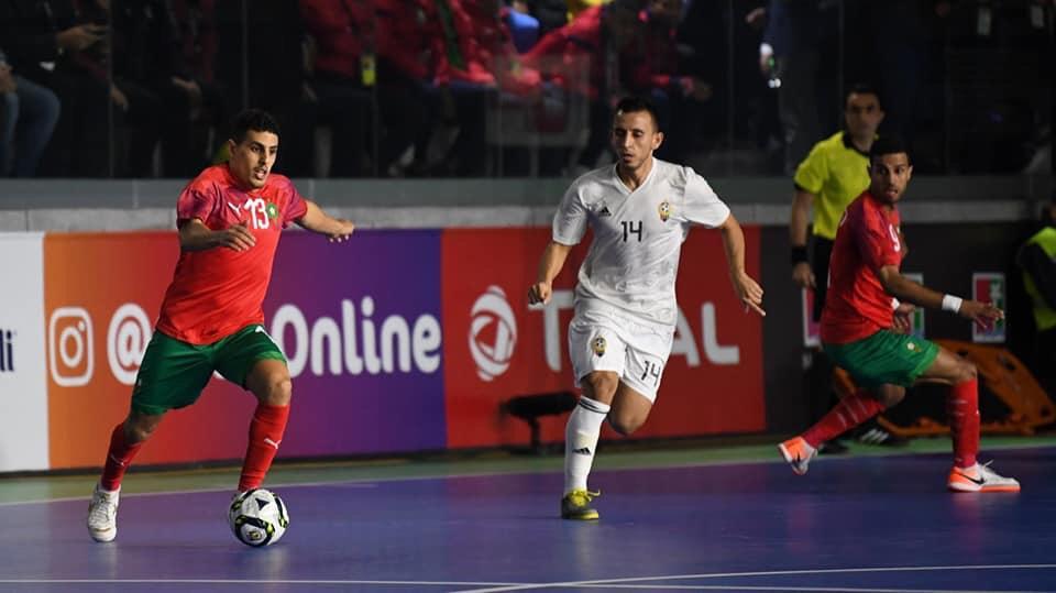 المنتخب المغربي يفوز بثلاثية في كأس أمم أفريقيا داخل على القاعة على ليبيا