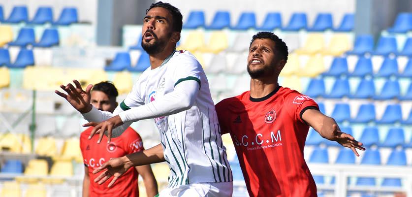 شباب المحمدية يفرض التعادل على الدفاع الحسني الجديدي بالملعب العبدي