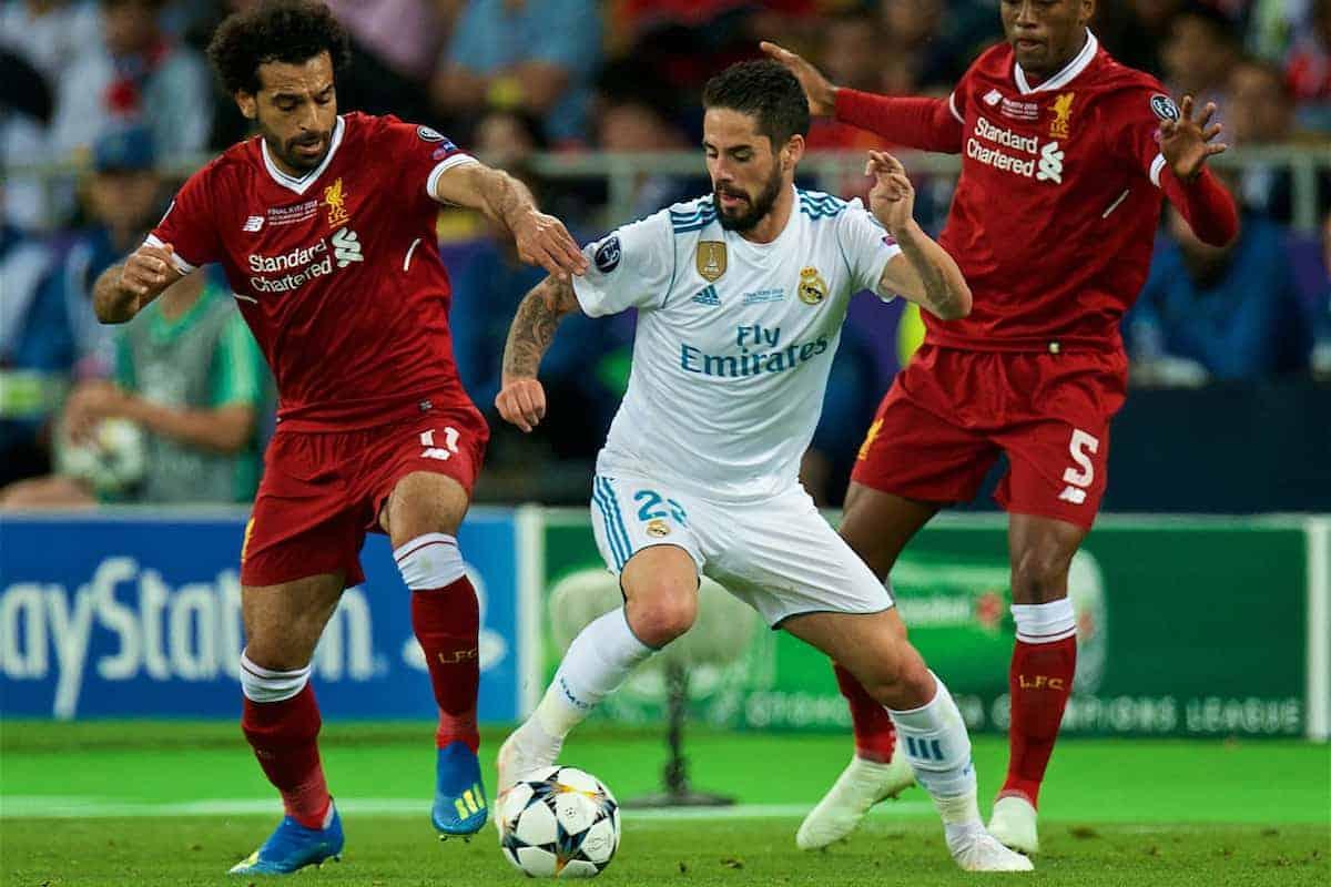 تشكيلة ريال مدريد و ليفربول الرسمية في قمة دوري أبطال أوروبا