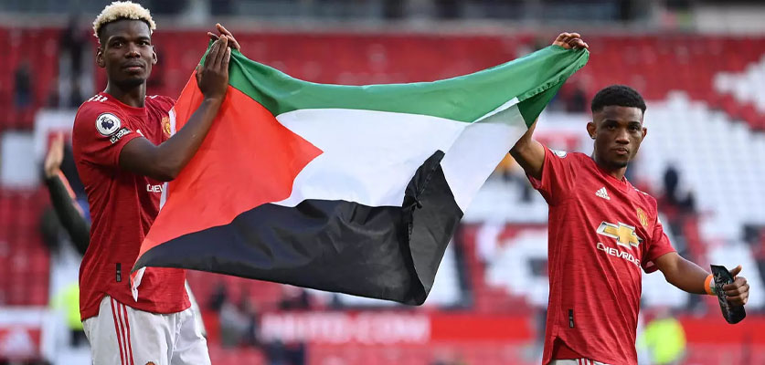صور بوغبا وتراوري يحملان علم فلسطين تلقى استحسانا كبيرا بين رواد مواقع التواصل
