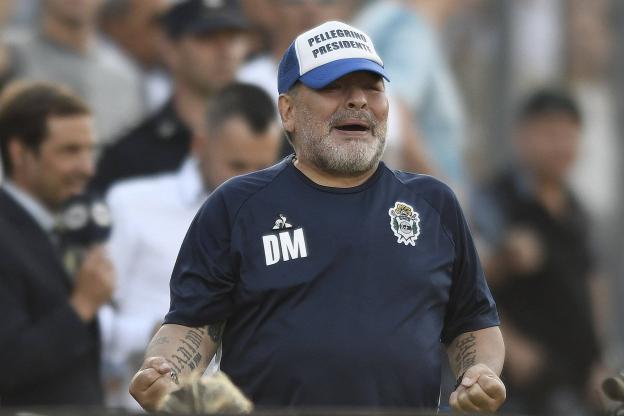 الأرجنتيني مارادونا يمدد عقده مع خيمناسيا