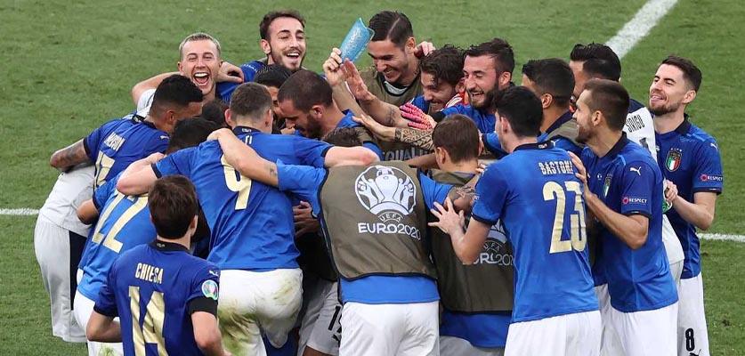 إيطاليا تحسم بطاقة العبور لربع نهائي أمم أوروبا على حساب النمسة