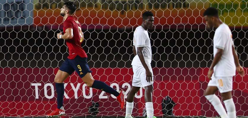 إسبانيا تتأهل لنصف نهائي منافسة الألعاب الأولميبة بعد الفوز على ساحل العاج