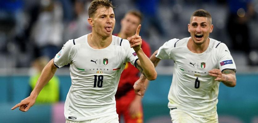 إيطاليا تزيح بلجيكا من اليورو و تعبر لنصف النهائي