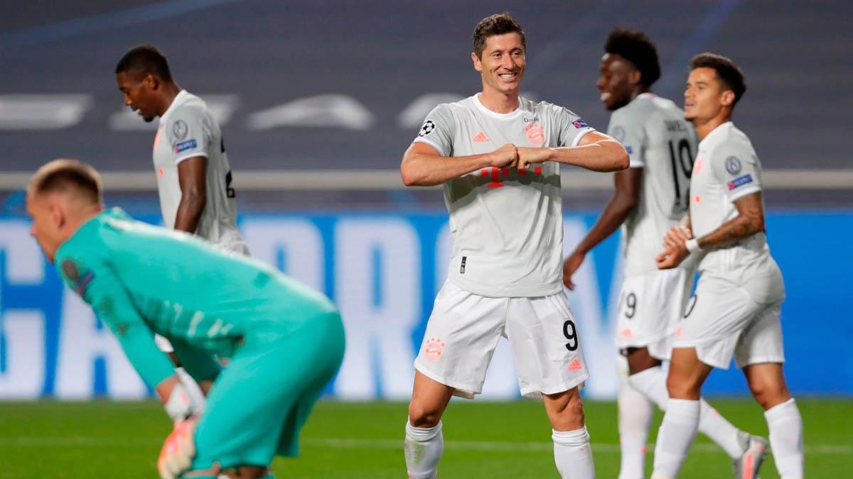 بايرن ميونيخ يفوز على برشلونة بنتيجة 8-2 ويبلغ نصف النهائي
