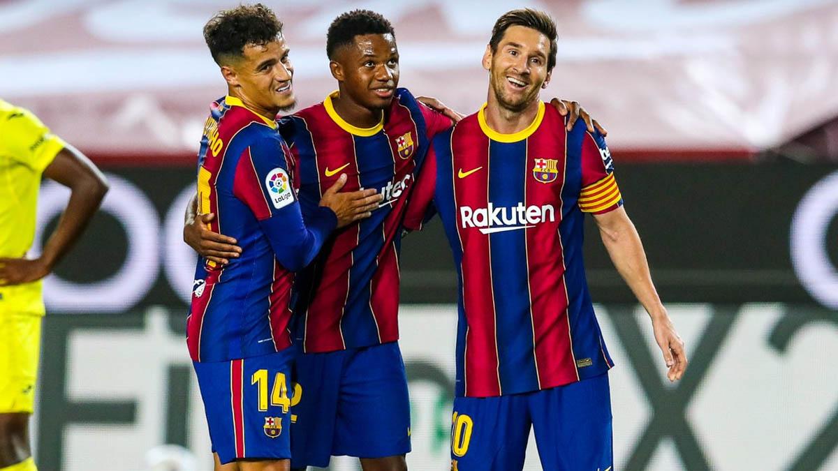 برشلونة يحقق الفوزا كبيرا على ضيفه فياريال