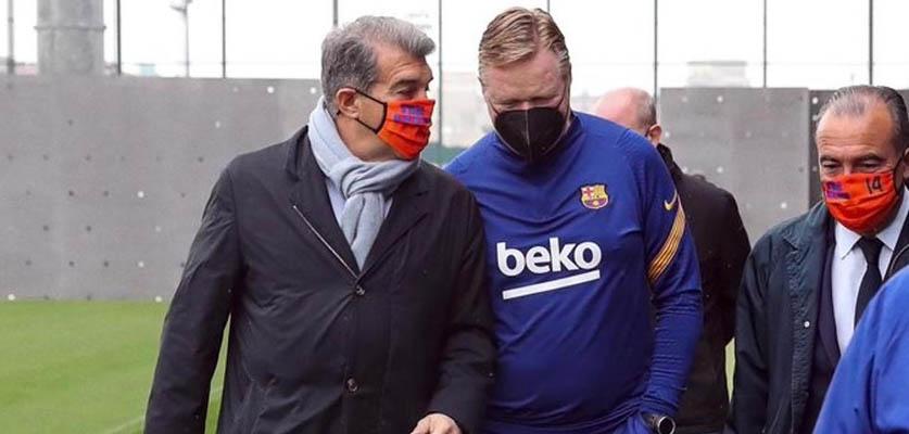 شروط جديدة من لابورتا لاستمرار كومان ببرشلونة