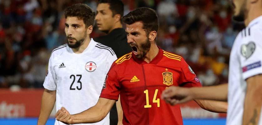 إسبانيا تفوز على جورجيا برباعية نظيفة في تصفيات كأس العالم 2022