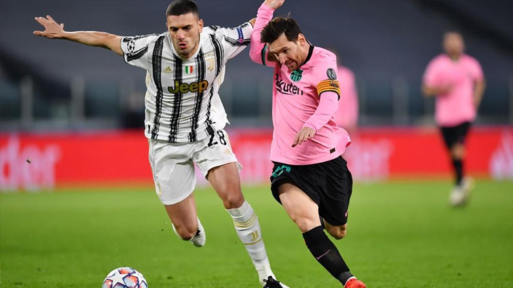 بقيادة ميسي برشلونة يفوز على يوفنتوس في إيطاليا