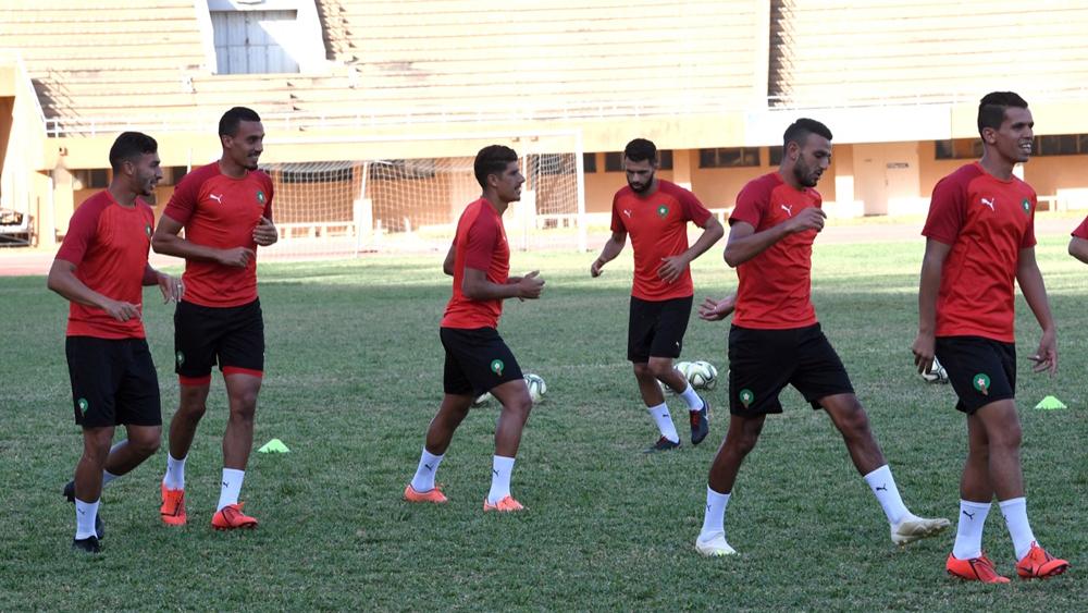 المنتخب المغربي المحلي يخوض أخر حصة تدريبية له قبل مواجهة مالي