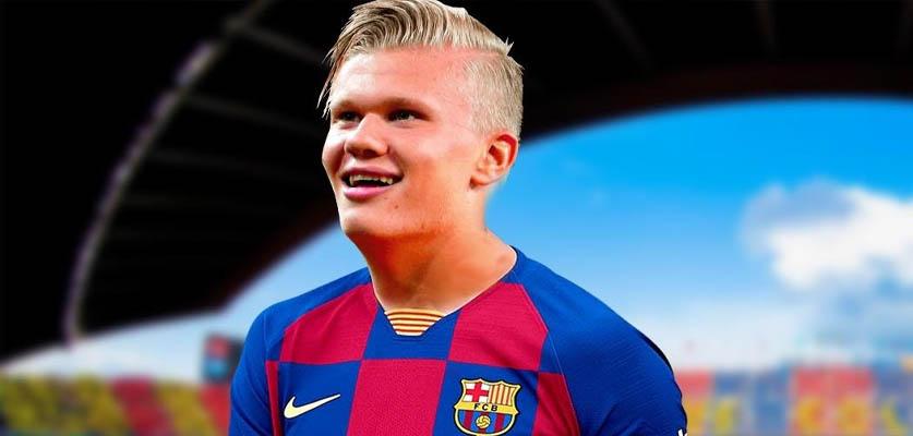 برشلونة يريد التعاقد مع هالاند خلال الإنتقالات الصيفية القادمة