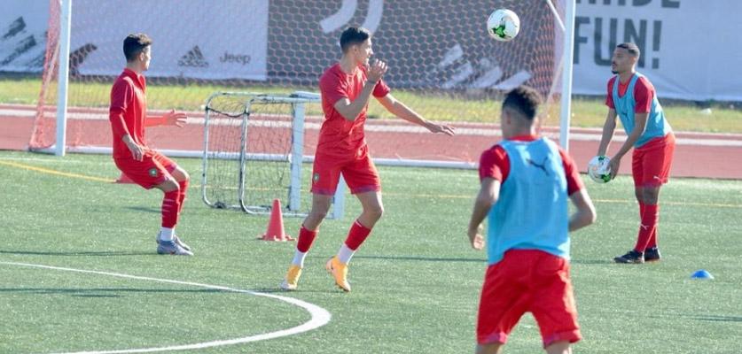 استعدادات المنتخب المغربي أقل من 20 سنة قبل مباراته ضد الجزائر