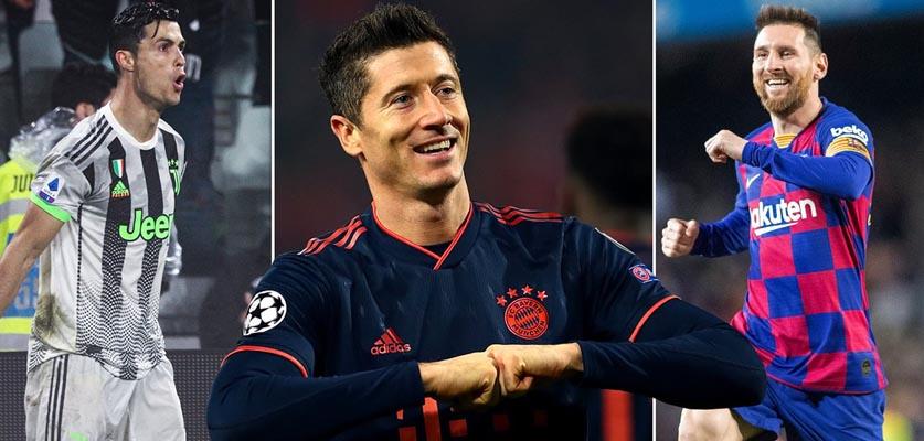منافسة حارقة بين ميسي و رونالدو و ليفاندوفسكي  على أفضل لاعب في العالم